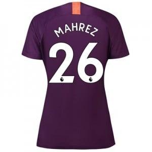 Manchester City Third Stadium Shirt 2018-19 – Womens with Mahrez 26 printing