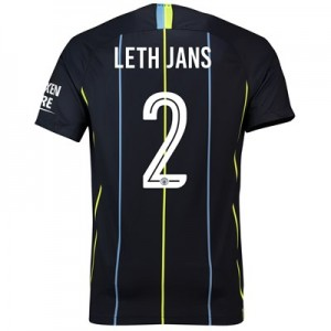 Manchester City Away Cup Stadium Shirt 2018-19 with Leth Jans 2 printing