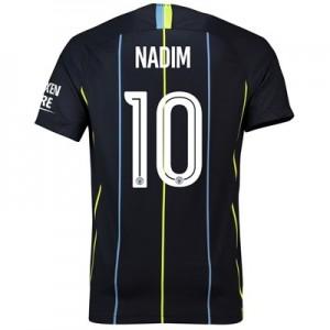 Manchester City Away Cup Stadium Shirt 2018-19 with Nadim 10 printing