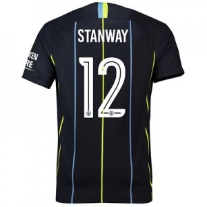 Manchester City Away Cup Stadium Shirt 2018-19 with Stanway 12 printing