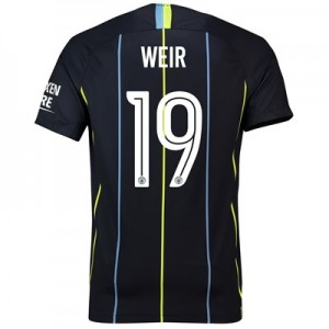 Manchester City Away Cup Stadium Shirt 2018-19 with Weir 19 printing