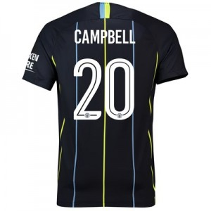 Manchester City Away Cup Stadium Shirt 2018-19 with Campbell 20 printing