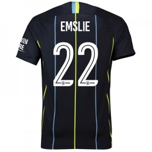 Manchester City Away Cup Stadium Shirt 2018-19 with Emslie 22 printing
