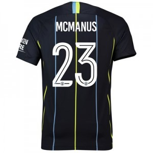 Manchester City Away Cup Stadium Shirt 2018-19 with McManus 23 printing