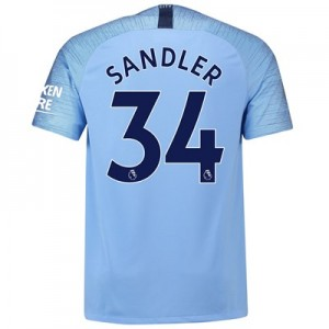 Manchester City Home Stadium Shirt 2018-19 with Sandler 34 printing