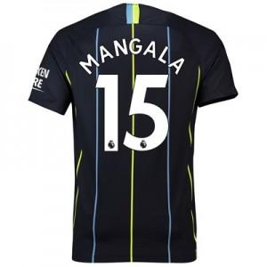 Manchester City Away Stadium Shirt 2018-19 with Mangala 15 printing