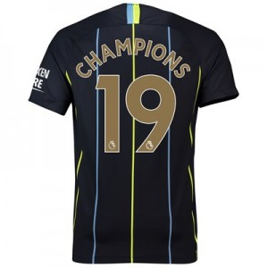 Manchester City Away Stadium Shirt 2018-19 with Champions 19 printing