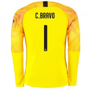 Manchester City Cup Third Goalkeeper Shirt 2019-20 with C.Bravo 1 printing