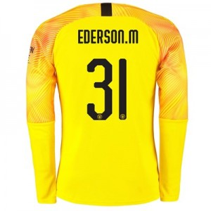 Manchester City Cup Third Goalkeeper Shirt 2019-20 with Ederson M. 31 printing