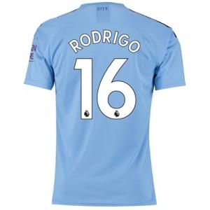 Manchester City Authentic Home Shirt 2019-20 with Rodrigo 16 printing