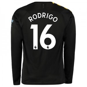 Manchester City Away Shirt 2019-20 - Long Sleeve with Rodrigo 16 printing