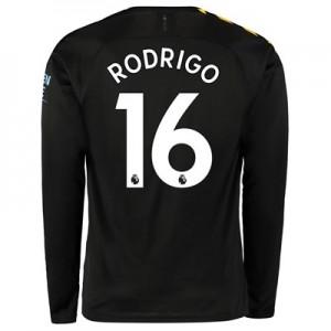 Manchester City Away Shirt 2019-20 – Long Sleeve with Rodrigo 16 printing