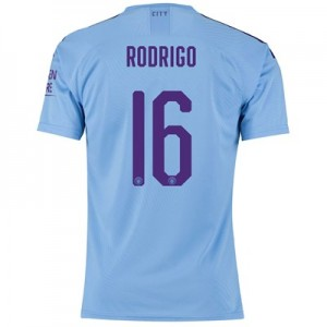 Manchester City Authentic Cup Home Shirt 2019-20 with Rodrigo 16 printing