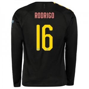 Manchester City Cup Away Shirt 2019-20 – Long Sleeve with Rodrigo 16 printing