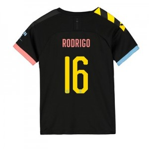 Manchester City Cup Away Shirt 2019-20 – Kids with Rodrigo 16 printing