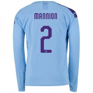Manchester City Cup Home Shirt 2019-20 - Long Sleeve with Mannion 2 printing