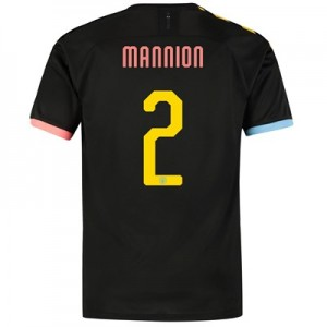 Manchester City Cup Authentic Away Shirt 2019-20 with Mannion 2 printing