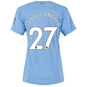 Manchester City Authentic Home Shirt 2019-20 - Womens with João Cancelo 27 printing
