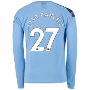 Manchester City Home Shirt 2019-20 - Long Sleeve with João Cancelo 27 printing