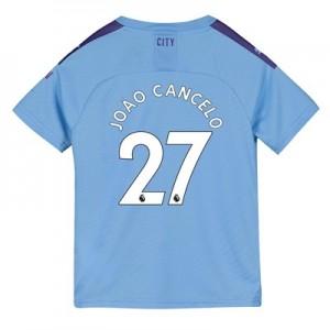 Manchester City Home Shirt 2019-20 – Kids with João Cancelo 27 printing