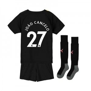 Manchester City Away Mini Kit 2019-20 with João Cancelo 27 printing