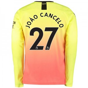 Manchester City Third Shirt 2019-20 - Long Sleeve with João Cancelo 27 printing