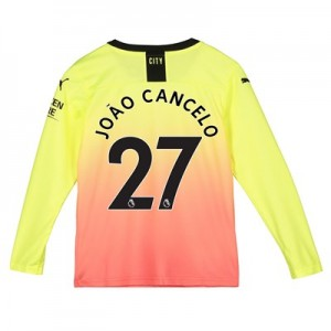 Manchester City Third Shirt 2019-20 - Long Sleeve - Kids with João Cancelo 27 printing