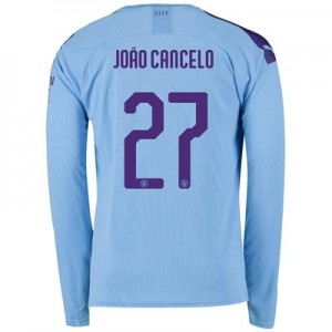 Manchester City Cup Home Shirt 2019-20 - Long Sleeve with João Cancelo 27 printing