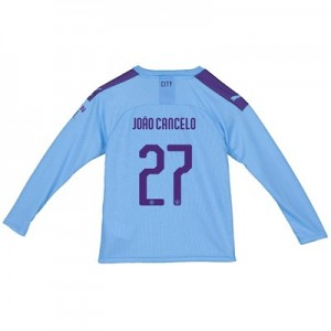 Manchester City Cup Home Shirt 2019-20 – Long Sleeve – Kids with João Cancelo 27 printing