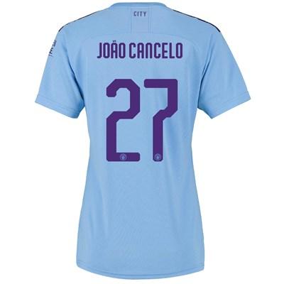 Manchester City Cup Home Shirt 2019-20 - Womens with João Cancelo 27 printing