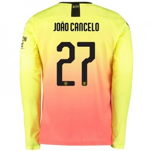 Manchester City Cup Third Shirt 2019-20 - Long Sleeve with João Cancelo 27 printing