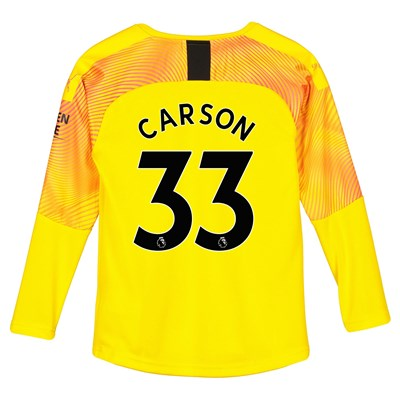 Manchester City Third Goalkeeper Shirt 2019-20 – Kids with Carson 33 printing