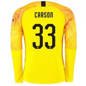 Manchester City Third Cup Goalkeeper Shirt 2019-20 with Carson 33 printing