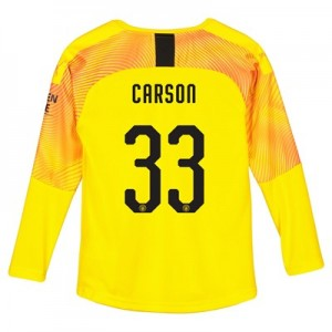 Manchester City Third Cup Goalkeeper Shirt 2019-20 - Kids with Carson 33 printing