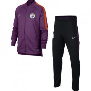 Manchester City Squad Knit Tracksuit - Purple - Kids