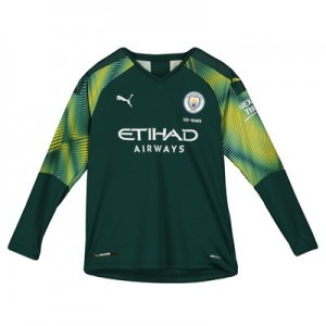 Manchester City Home Goalkeeper Shirt 2019-20 - Kids