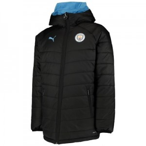 Manchester City Training Reversible Bench Jacket - Black