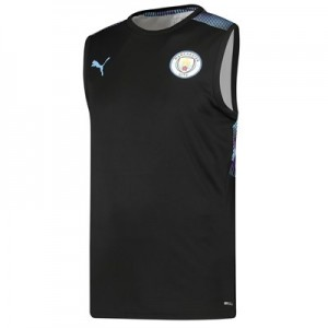 Manchester City Sleeveless Training Jersey - Black