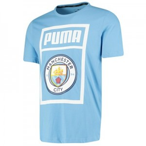 Manchester City Shoe Tag T-Shirt - Light Blue