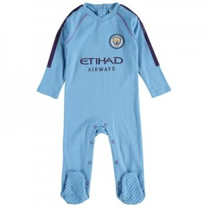 Manchester City Kit Sleepsuit - Sky Blue - Baby