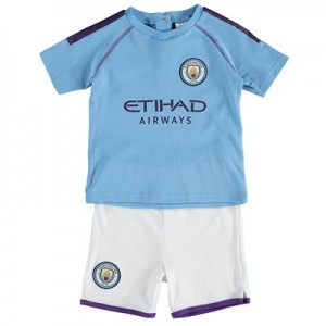 Manchester City Kit Shorts and T-Shirt Set – Sky Blue – Baby