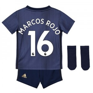 Manchester United Third Baby Kit 2018-19 with Marcos Rojo 16 printing