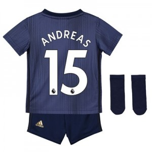 Manchester United Third Baby Kit 2018-19 with Andreas 15 printing
