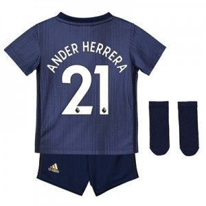 Manchester United Third Baby Kit 2018-19 with Ander Herrera 21 printing