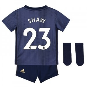 Manchester United Third Baby Kit 2018-19 with Shaw 23 printing