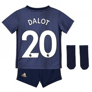 Manchester United Third Baby Kit 2018-19 with Dalot 20 printing