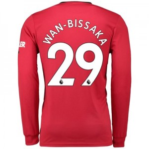 Manchester United Home Shirt 2019 - 20 - Long Sleeve with Wan-Bissaka 29 printing