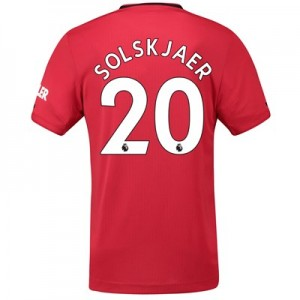 Manchester United Home Authentic Shirt 2019 – 20 with Solskjaer 20 printing