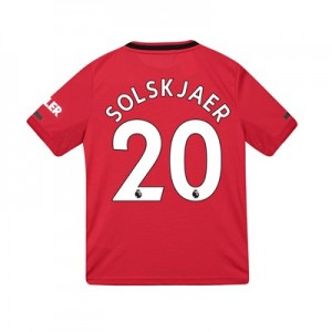 Manchester United Home Shirt 2019 - 20 - Kids with Solskjaer 20 printing