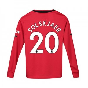 Manchester United Home Shirt 2019 - 20 - Kids - Long Sleeve with Solskjaer 20 printing